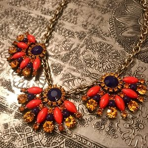 J. Crew jeweled statement necklace
